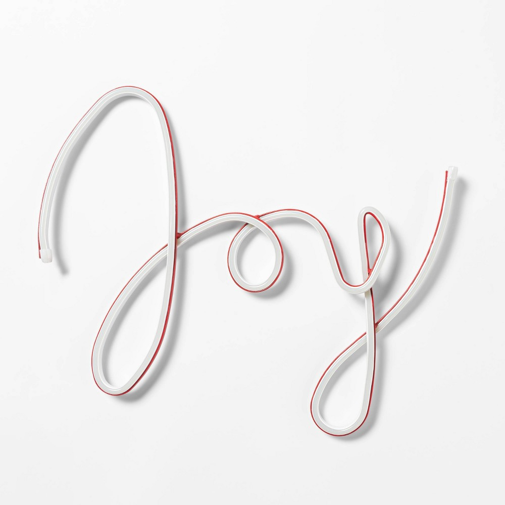 "Image of ""17"""" Christmas LED Faux Neon Joy Novelty Silhouette Lights - Wondershop"""