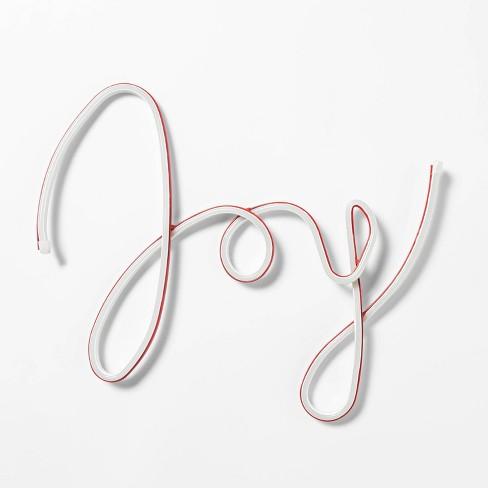 17in Christmas LED Faux Neon Joy Novelty Silhouette Lights - Wondershop™ - image 1 of 2
