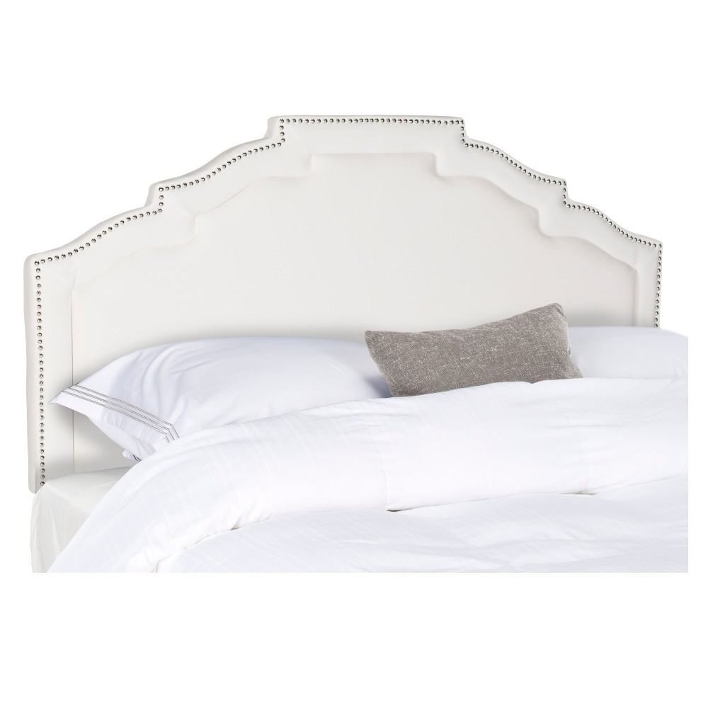Alexia Tufted Headboard - White (Queen) - Safavieh