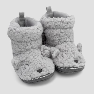 Baby Bear Boot - Cloud Island™ - Gray 0-6M