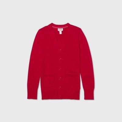 Girls' Uniform Cardigan - Cat & Jack™ Red