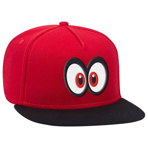 Super Mario: Cappy Eyes Brimmed Hat - Red/Black - image 1 of 1