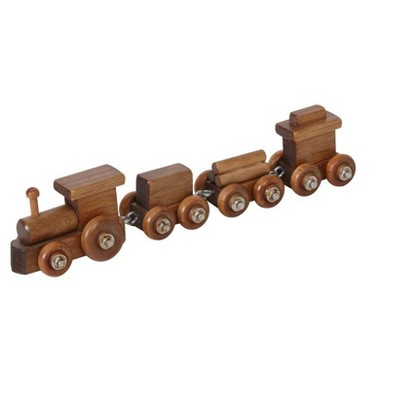 Remley Kids Wooden 4-Car Toy Train