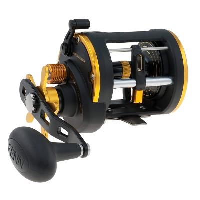 Penn SQL20LW Squall Levelwind Lightweight Saltwater Fish Trolling Fishing Reel, Black & Gold