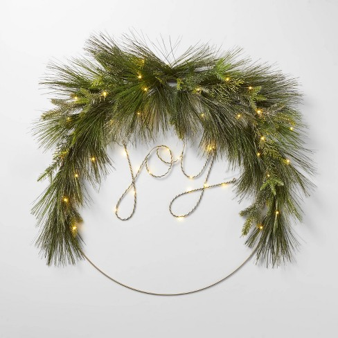 Lit Led Joy Wreath Wondershop Target