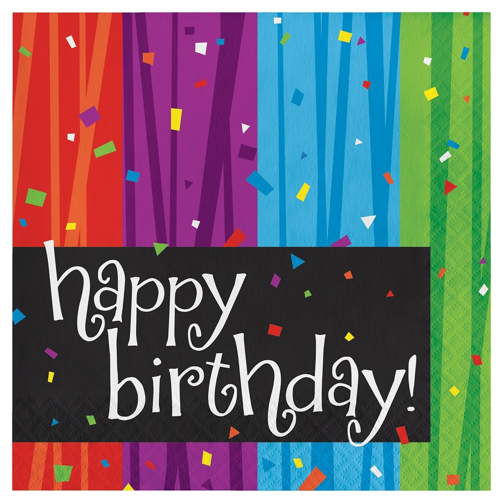 Image of 16ct Milestone Celebrations Birthday Napkins