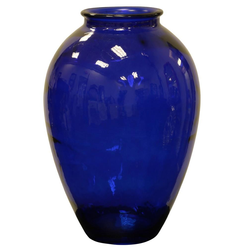 Decorative Vase Glossy - Blue, Cobalt Blue