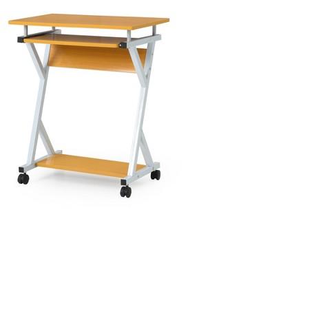 Computer Desk Neutral - Hodedah Import - image 1 of 5