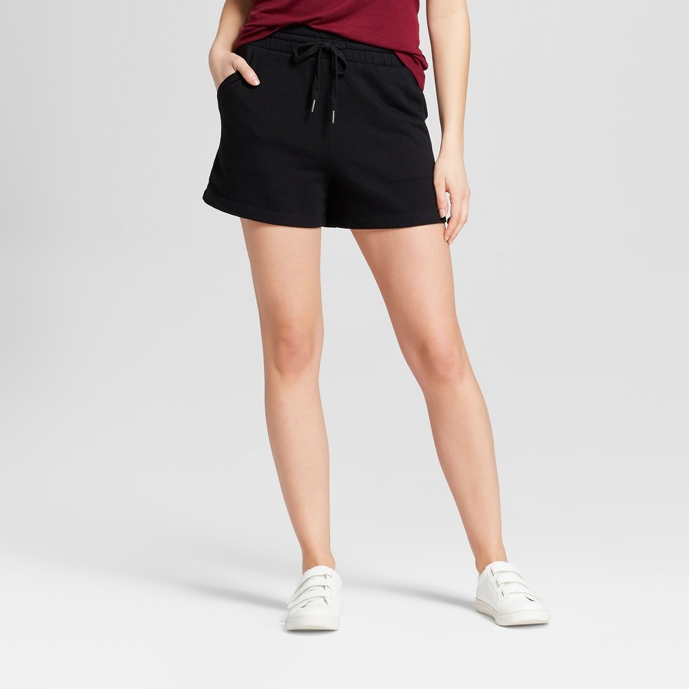 Image of Women's French Terry Shorts - A New Day Black XS