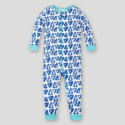Lamaze Toddler Boys' Triangle Footless Organic Cotton Long Sleeve Stretchy Pajama Jumpsuit - Blue 4T
