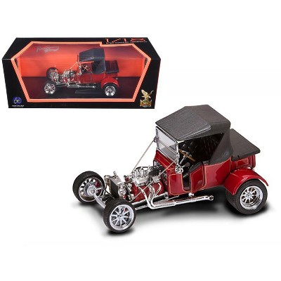 1923 Ford T-Bucket Soft Top Burgundy with Black Top 1/18 Diecast Model Car by Road Signature