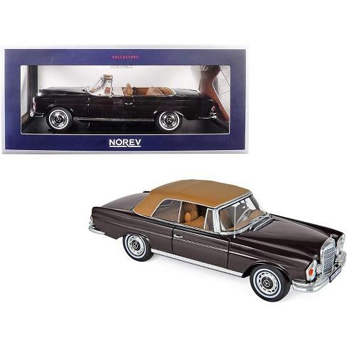 1969 Mercedes Benz 280 SE Cabriolet Dark Brown 1/18 Diecast Model Car by Norev - image 1 of 2