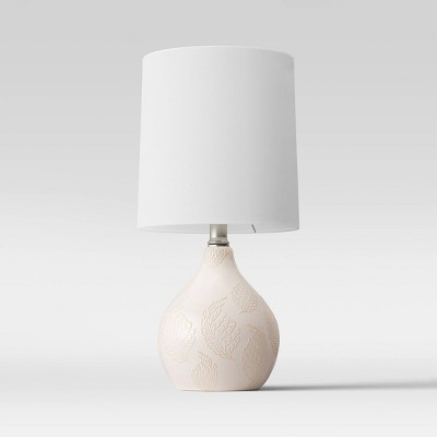 Pattern Ceramic Mini Lamp Off White (Includes Energy Efficient Light Bulb)- Threshold™