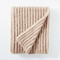 "50""x60"" Eyelash Chunky Knit Throw Blanket - Threshold™ designed with Studio McGee"