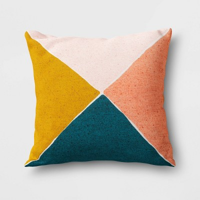 Outdoor Throw Pillow Blue/Yellow/Coral - Project 62™