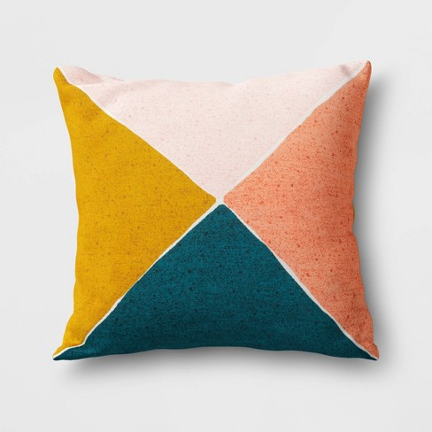 Outdoor Throw Pillow Blue/Yellow/Coral   Project 62™ : Target