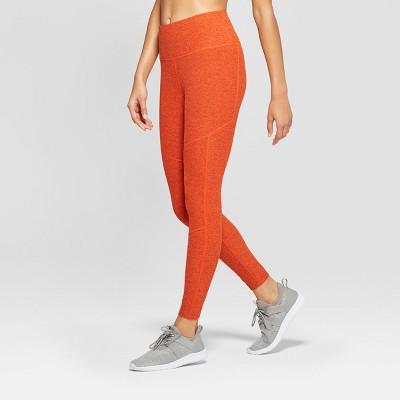 06070fd2054be Women's Performance Mini Striped 7/8 High-Waisted Leggings - JoyLab™  Pumpkin Orange