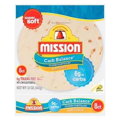 Mission Carb Balance Soft Taco Flour Tortillas - 8ct