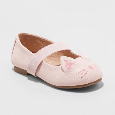 Toddler Girls Hassie Cat Critter Ballets - Cat & Jack™ Pink 11