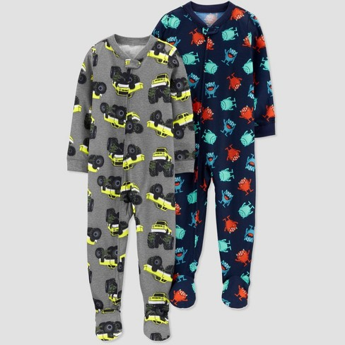 Toddler Boys' Construction One Piece Pajama - Just One You® made by carter's Gray - image 1 of 1