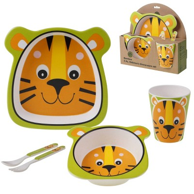 5pc Bamboo Tiger Children's Dinnerware Set - Certified International