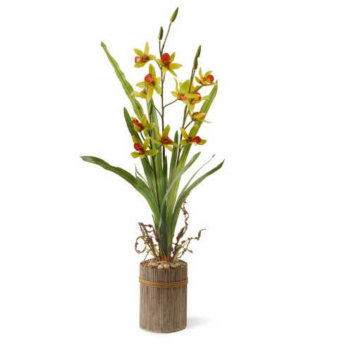 "Garden Accents Artificial Potted Flower Red 30"" - National Tree Company® - image 1 of 1"