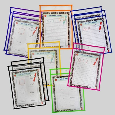 10pk Dry Erase Pockets - Bullseye's Playground™