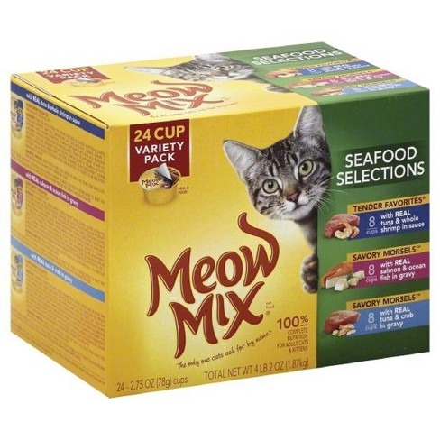 Meow Mix Seafood Selections (Variety) - Wet Cat Food - 2.75oz / 24pk - image 1 of 4