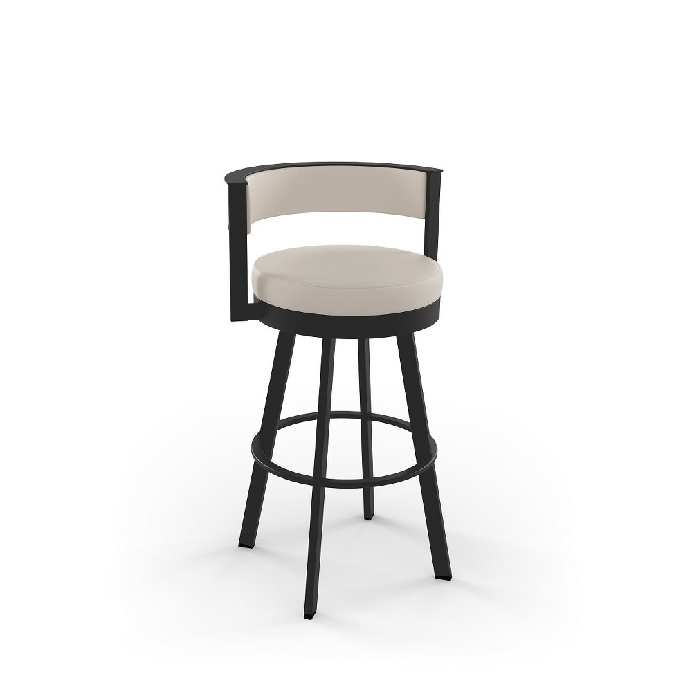 30 34 Browser Counter Height Barstool With Upholstered Seat Beige Amisco