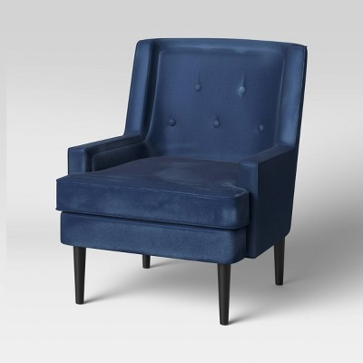 Tufted Back Armchair Navy - Threshold™