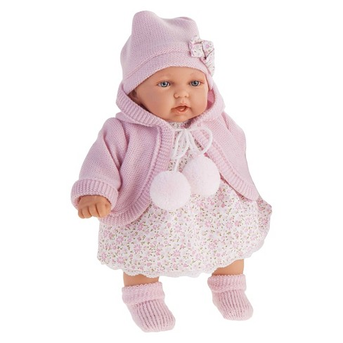 "Antonio Juan Petit 11"" Baby Girl Doll With Light Pink Dress - image 1 of 1"
