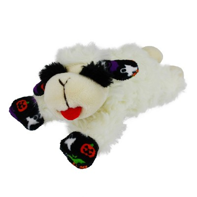 """Multipet Lamb Chop with Printed Halloween Paws and Ears Dog Toy - White - 6"""""""