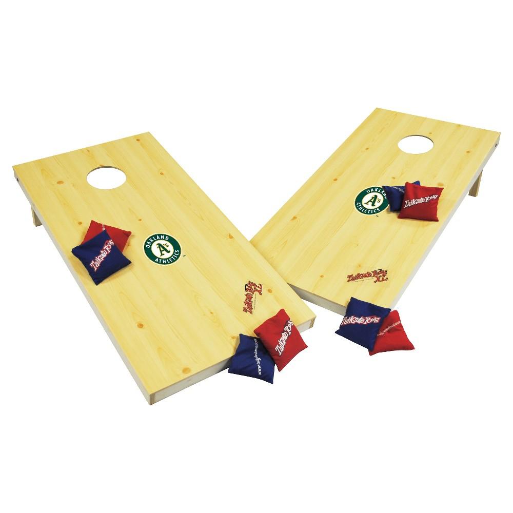 Oakland Athletics Wild Sports XL Cornhole Bag Toss Set - 2x4 ft.