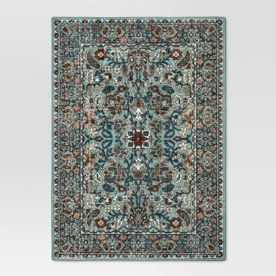 5'X7' Floral Tufted Area Rug Blue - Threshold™