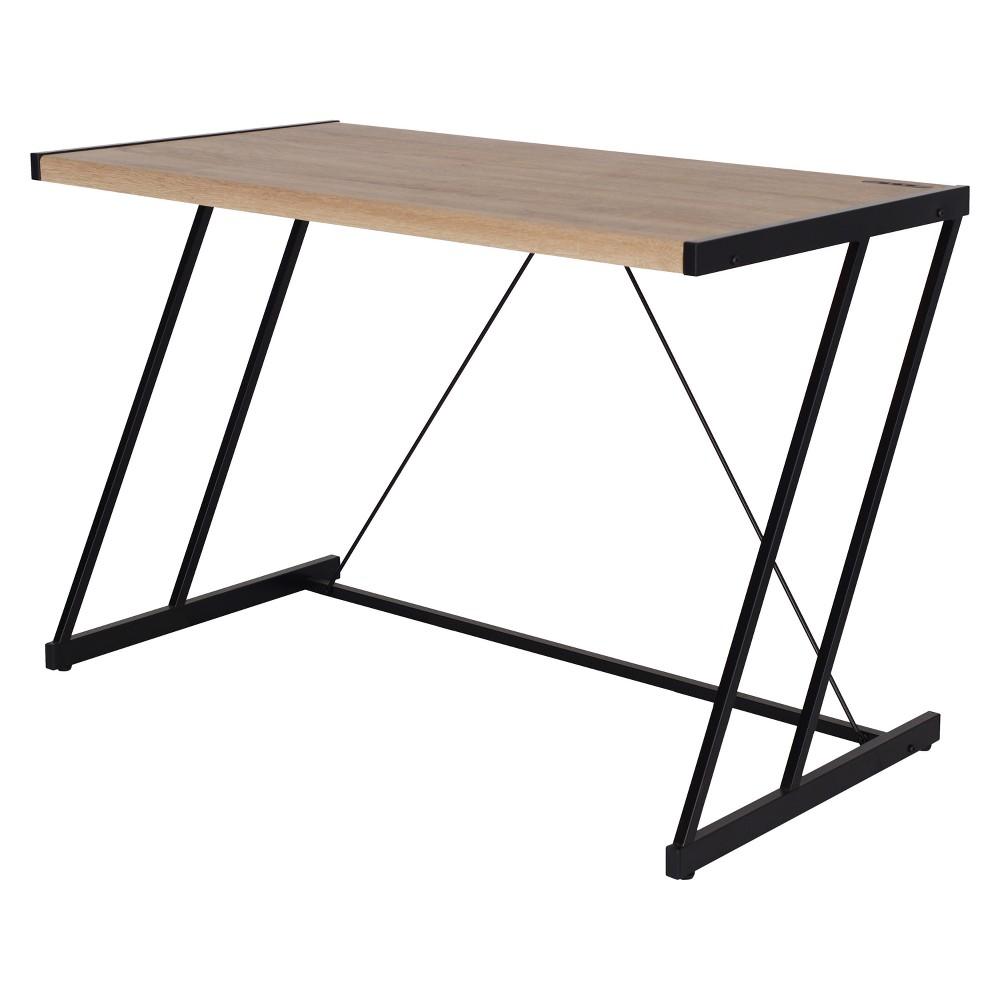 Writing Desk Acme Furniture Oak Black, Brown