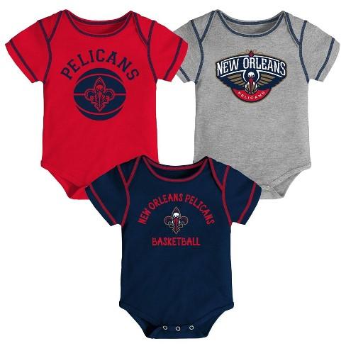 Nba New Orleans Pelicans Baby Boys Rookie Bodysuit Set 3pk 12m