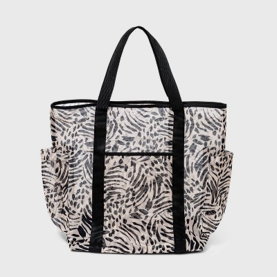 Animal Print Mesh Tote Handbag - Shade & Shore™
