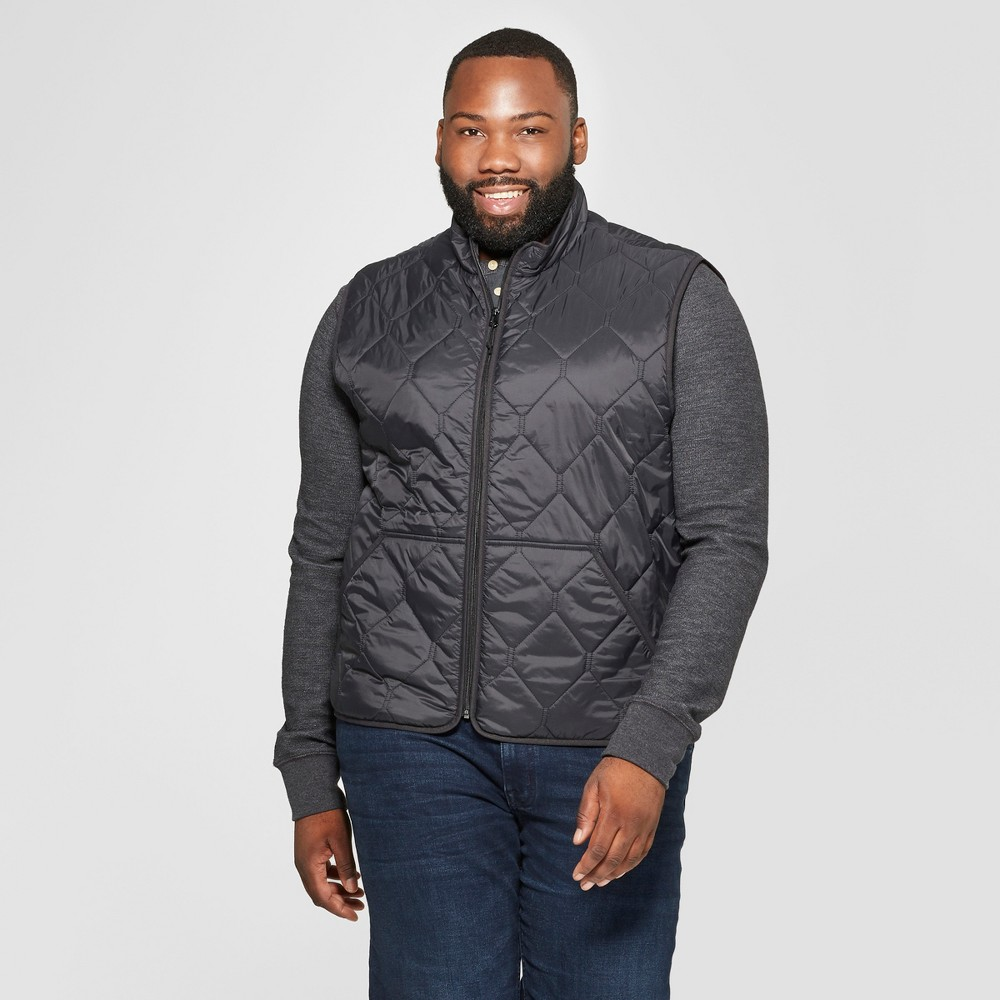 Men's Big & Tall Lightweight Quilted Vest - Goodfellow & Co Black 3XB
