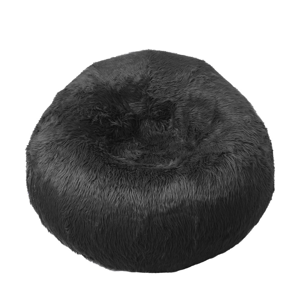 Image of Galaxy Faux Fur Inflatable Chair Black - Iron Cloud