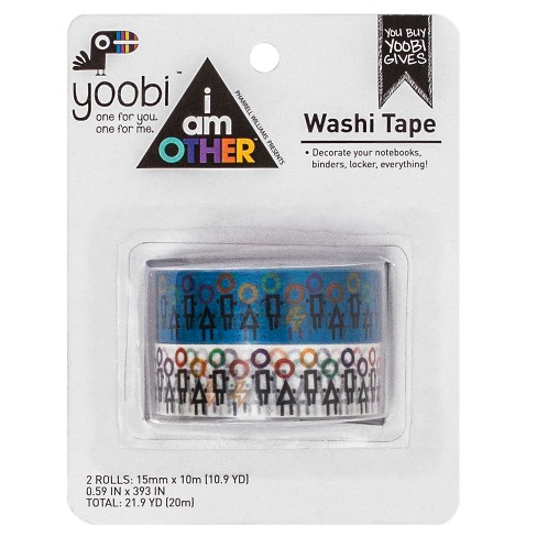 Yoobi™ x i am OTHER ed Washi Tape, 2pk - Multicolor Community - image 1 of 3