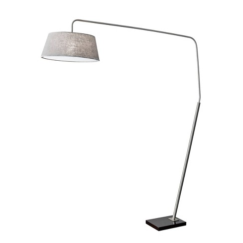 Adesso Ludlow Arc Lamp  - Silver - image 1 of 3