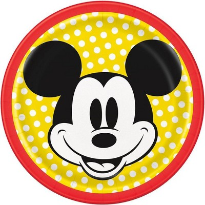 "Mickey Mouse & Friends  7"" 8ct Disposable Dinner Plates"