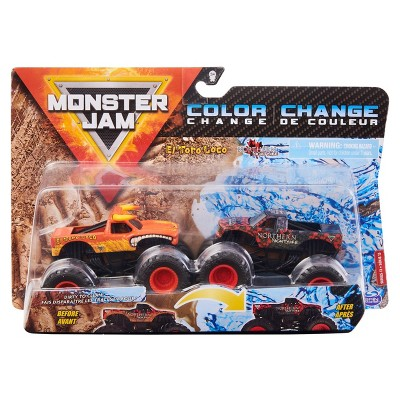 Monster Jam - 2 Pack 1:64 Scale - Eltorlocvnrtrnnghtm