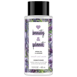 Love Beauty & Planet Argan Oil & Lavender Smooth & Serene Conditioner - 13.5 Fl Oz : Target