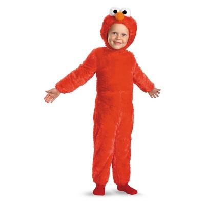 Toddler Sesame Street Elmo Comfy Faux Fur Halloween Costume 3T-4T