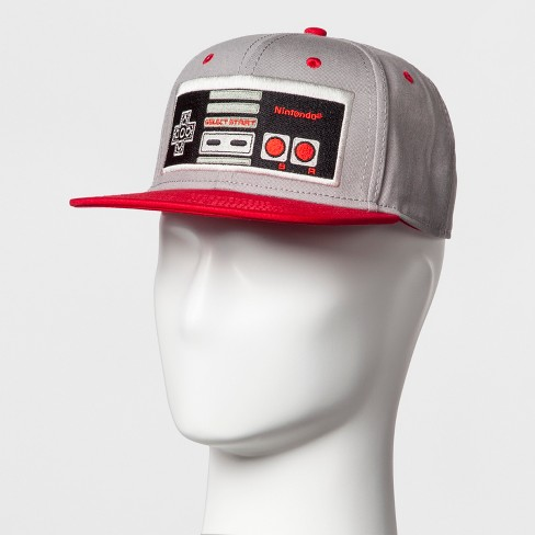 Men's Nintendo Controller Baseball Cap - Gray/Red One Size - image 1 of 2