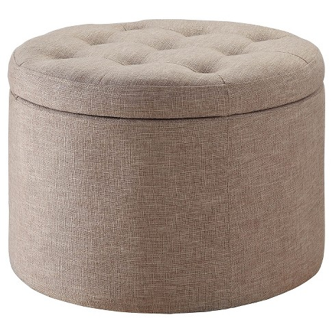 Storage Ottoman - Tan - Convenience Concepts - image 1 of 5