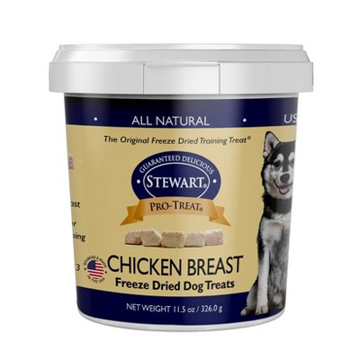 Stewart Freeze-Dried Chicken Breast Dog Treat - 11.5oz Tub