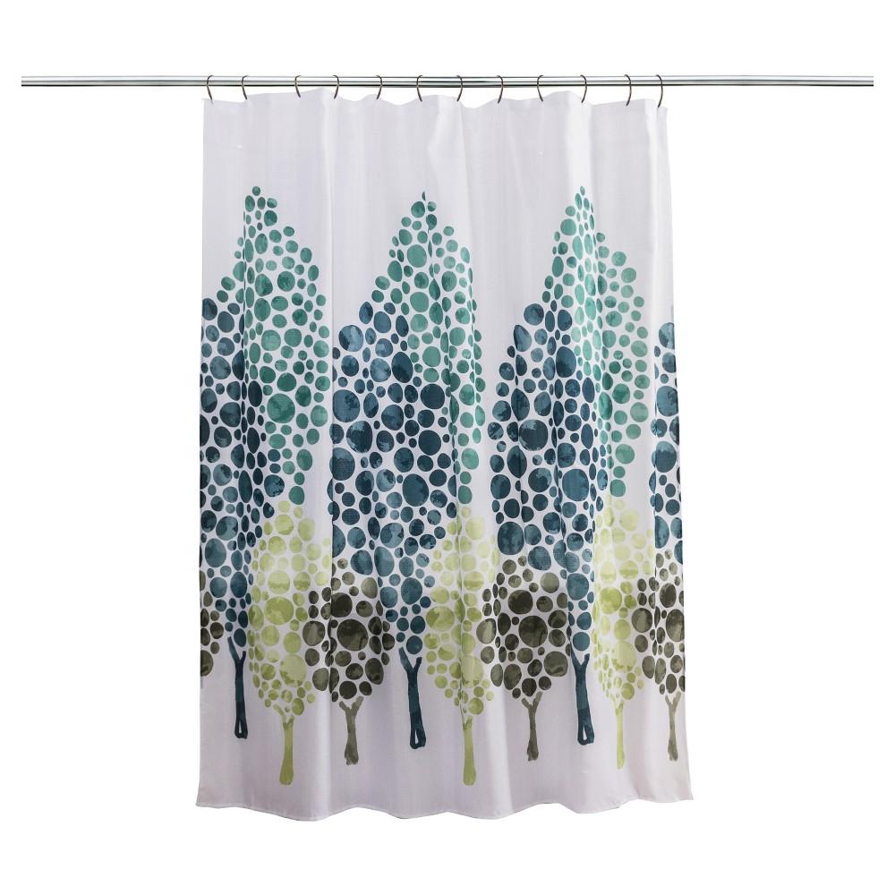 Tree Alpine Shower Curtain - Splash Home, Green/White/Blue