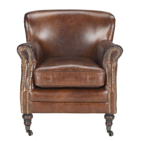 Manchester Leather Arm Chair Vintage